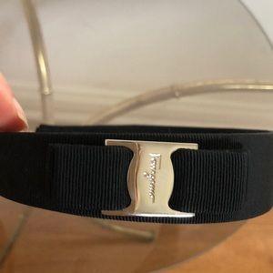 Salvatore Ferragamo Accessories - Auth Salvatore Ferragamo Wide Headband Black